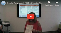 Breathe Easy March 2019 ~ Exercise Tips