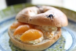 Nectarine and Basil Bagel