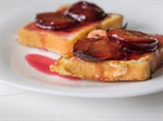 French Toast With Poached Plums